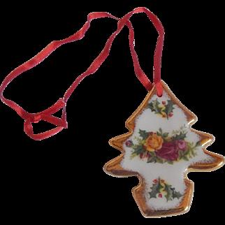 Royal Albert Old Country Roses  Chrismtas Magic Ornament