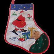 House Of Hatten Santa Christmas Stocking