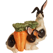 Fitz and Floyd Kensington Bunny Rabbit Candle Holders