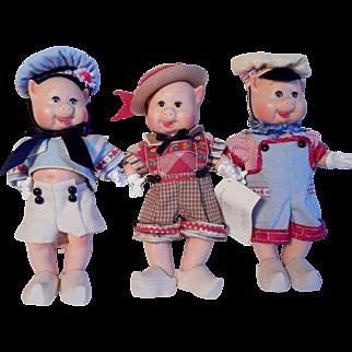 Madame Alexander Three Little Pigs 1997 Dolls