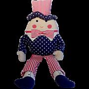 Uncle Sam Humpty Dumpty Cloth Doll