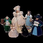 Five Hallmark Keepsake Wizard Of Oz Ornaments