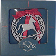 Lenox China Yuletide Collection  Rocking Horse Ornament