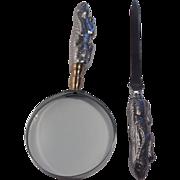 Arthur Court Bunny Letter Opener & Magnifying Glass