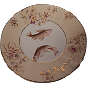 Warwick Semi Porcelain Plate With Fish Decal