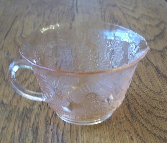 Pink Depression Dogwood Thin Creamer