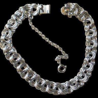 link sterling starter charm bracelet sold on ruby