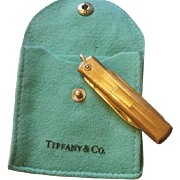 Sterling Tiffany and Co Un-Monogrammed Sterling Pocket Knife Fob