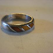 David Andersen Norway Sterling Enamel Ring ~7