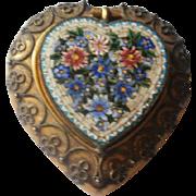Victorian Micro Mosaic Etruscan Gilt Brass Snuff Box