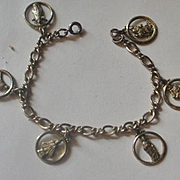 Creed Sterling Religious Charm Bracelet