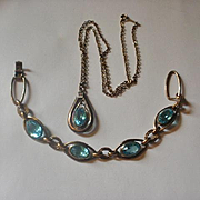 Simmons Gold Filled Bracelet and Necklace Set