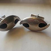 Sigi Pineda Sterling Modernist Cuff Links