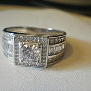 Rhodium Over Silver CZ Ring~11