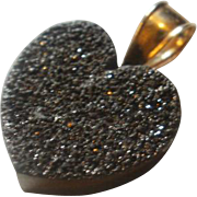 14k Druzy Heart Pendant