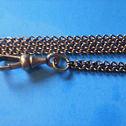 Long Vintage Ladies Gold Filled Watch Chain