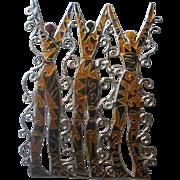 Large Sterling Enamel Figural Brooch