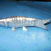Vintage 800 Silver Fish Spice Box