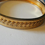 Vintage Gold Filled Bangle Bracelet