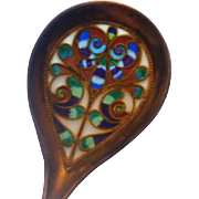 Art Nouveau Era Plique-A-Jour Sterling Spoon