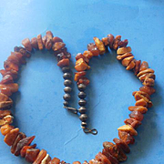 Butterscotch Amber Sterling Bead Necklace