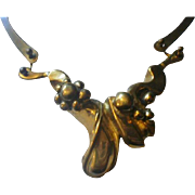 Mid-Century Brutalist Brass Necklace