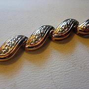 "Sterling Vermeil Diamond ""Comma"" Bracelet"
