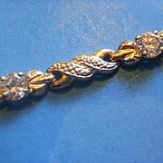Sterling Vermeil Large CZ Bracelet