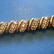 Sterling Vermeil Diamond Bracelet