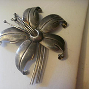 Large Sterling Tasco Maricela Brooch
