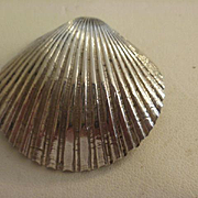 Lenore Doscow Modernist Sterling Shell Brooch