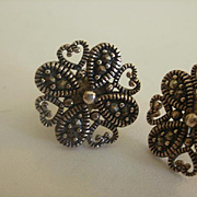 Sterling Marcasite Post Earrings