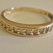 Vintage 14K 1/3 carat Diamond Band ~ 7 3/4