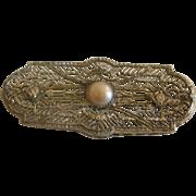 Large Vintage Sterling Filigree Brooch
