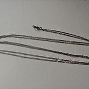 Vintage Sterling Ladies Watch Chain
