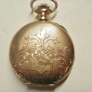 Victorian Era Wadsworth Gold Filled 6s Pilot Hunters Case Great Locket!
