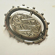 Aesthetic Era Silver Plated Brooch