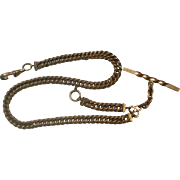 """Gorgeous Heavy 13"""" Men's Curb Link Gold Filled Watch Chain"""