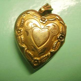 Vintage Gold Filled Heart Locket