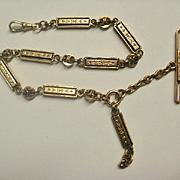 Fabulous Victorian Era Gold Filled Watch Chain