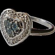 London Blue Topaz Sterling Ring ~10