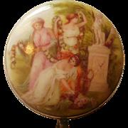 Victorian Era Hand Painted Porcelain Patch Box
