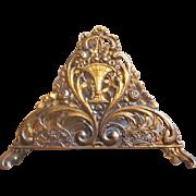 Ornate 800 Silver Germany Flower Basket Napkin Holder