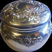 Art Nouveau Gorham All Sterling Powder Box