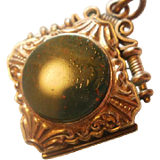 Gorgeous Victorian Blood Stone/Intaglio Locket Fob
