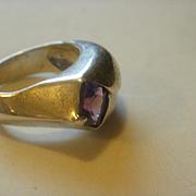 Leeora Catalin Sterling Amethyst Ring 7 1/2