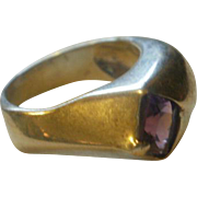 Leeora Catalin Sterling Amethyst Ring 7 1/2