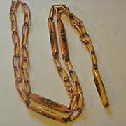 Flapper Era Celluloid Ormolu Necklace