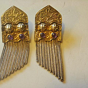 Sterling Amethyst Fringe Post Earrings