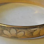 Vintage 9ct Gold Filled Bangle Bracelet